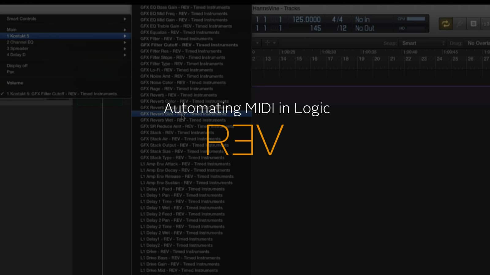 Automating MIDI in Logic with REV - Output