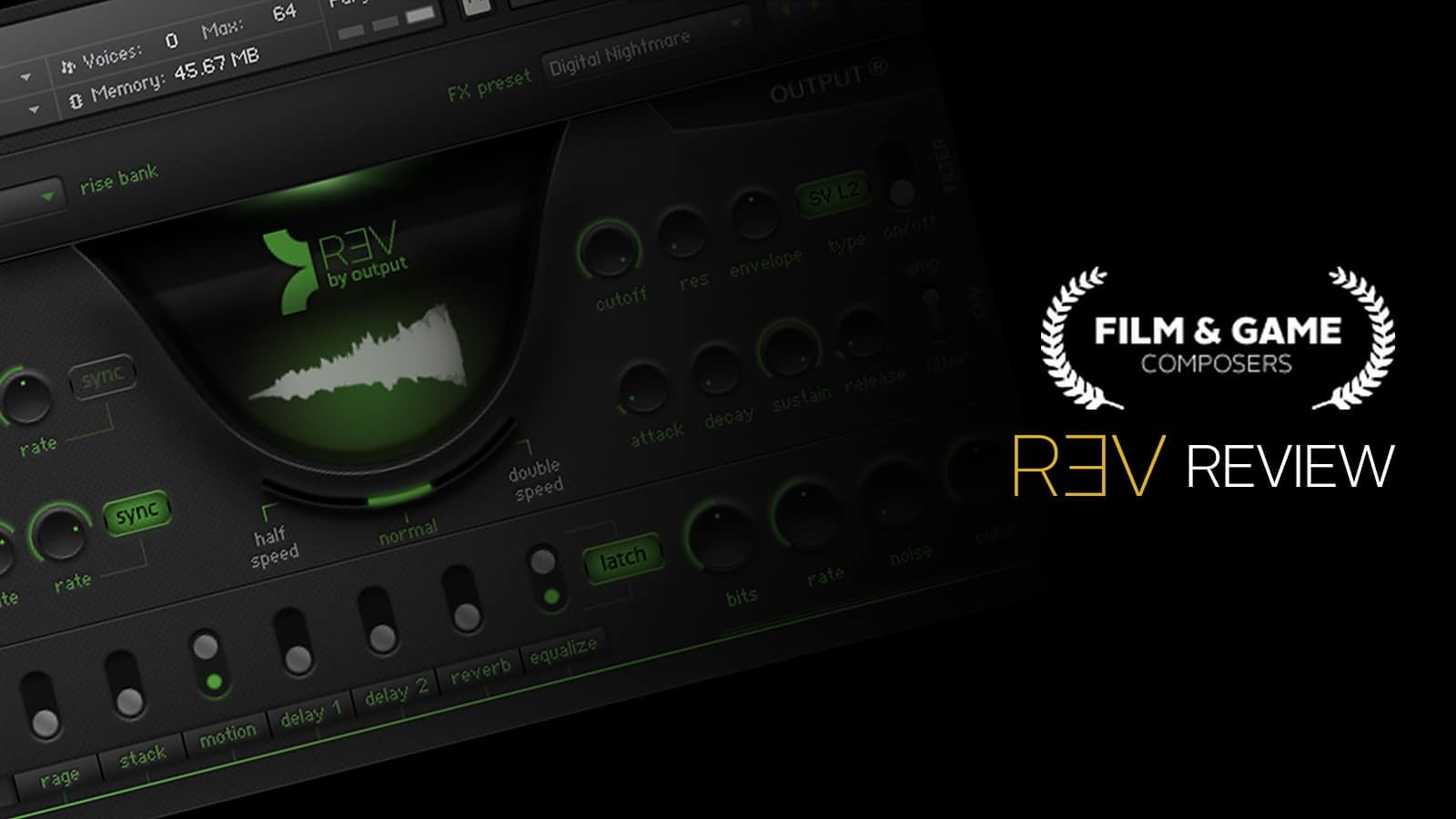 Film and Game Composers Reviews REV by Output