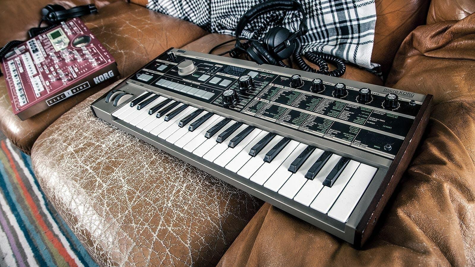 Keyboard sitting on a