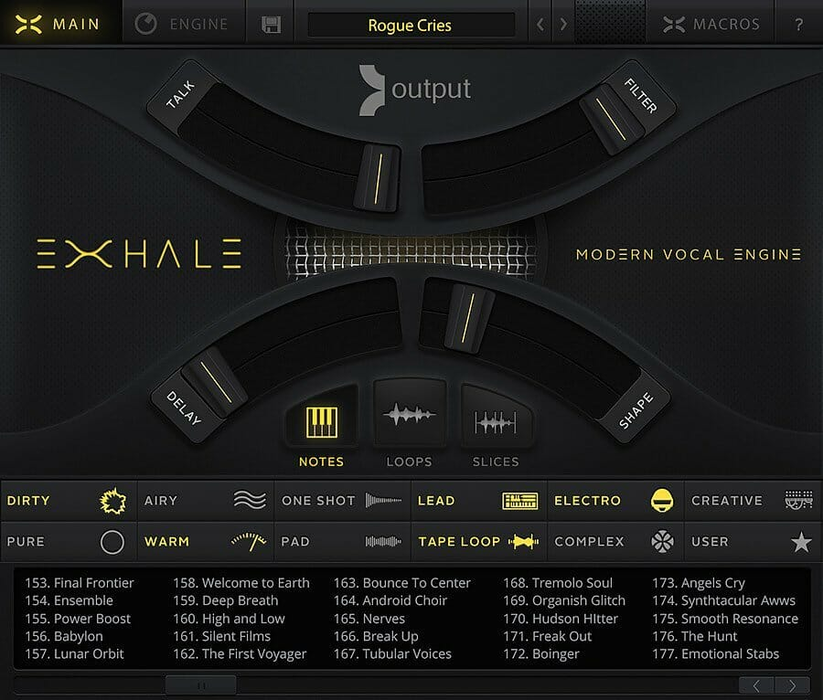 Exhale ™ - A Modern Vocal Engine | Output