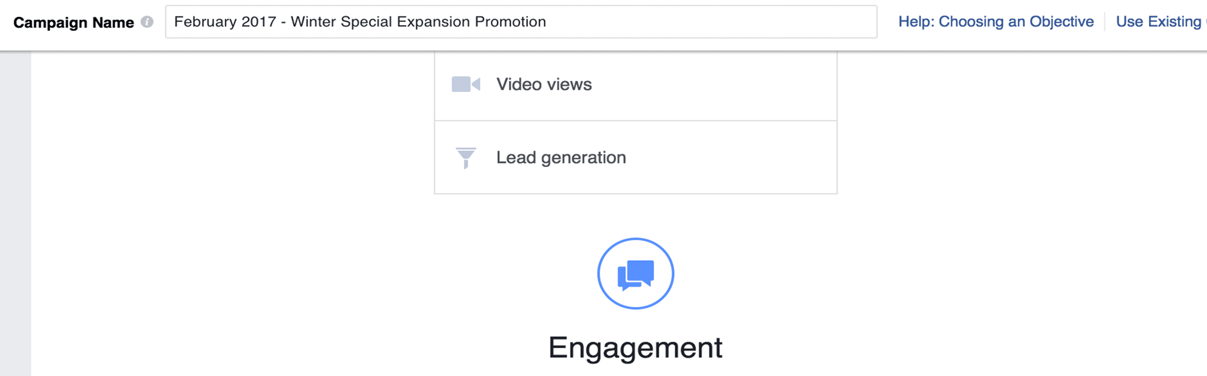 Naming your Facebook ad campaign