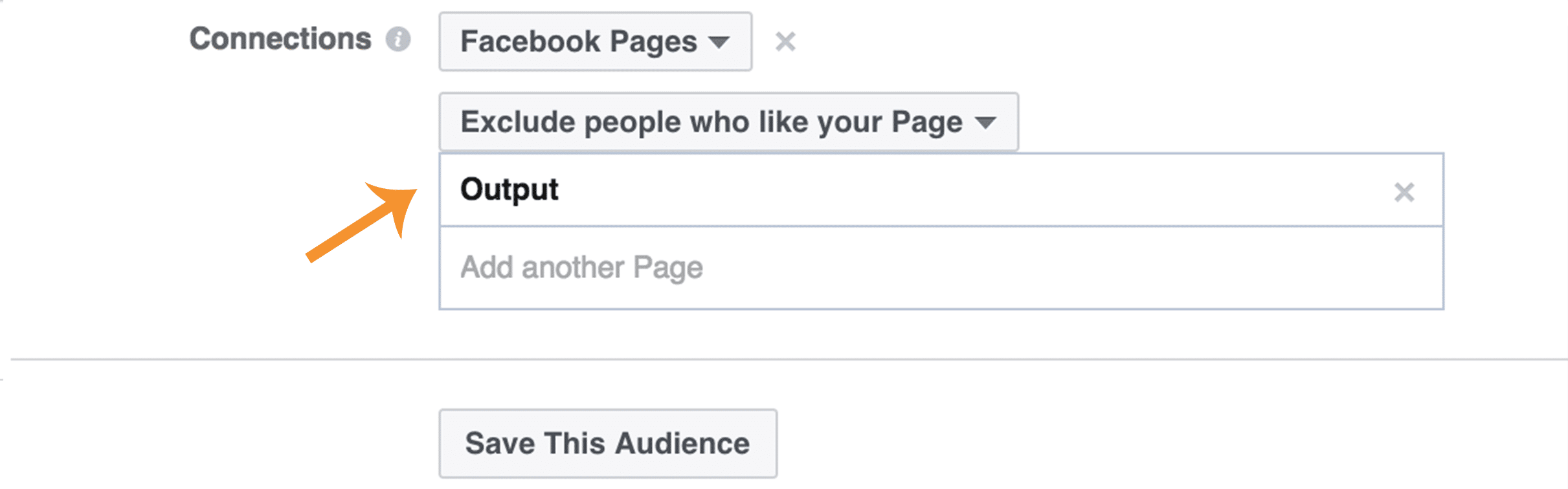 Choosing the audience for your Facebook ad