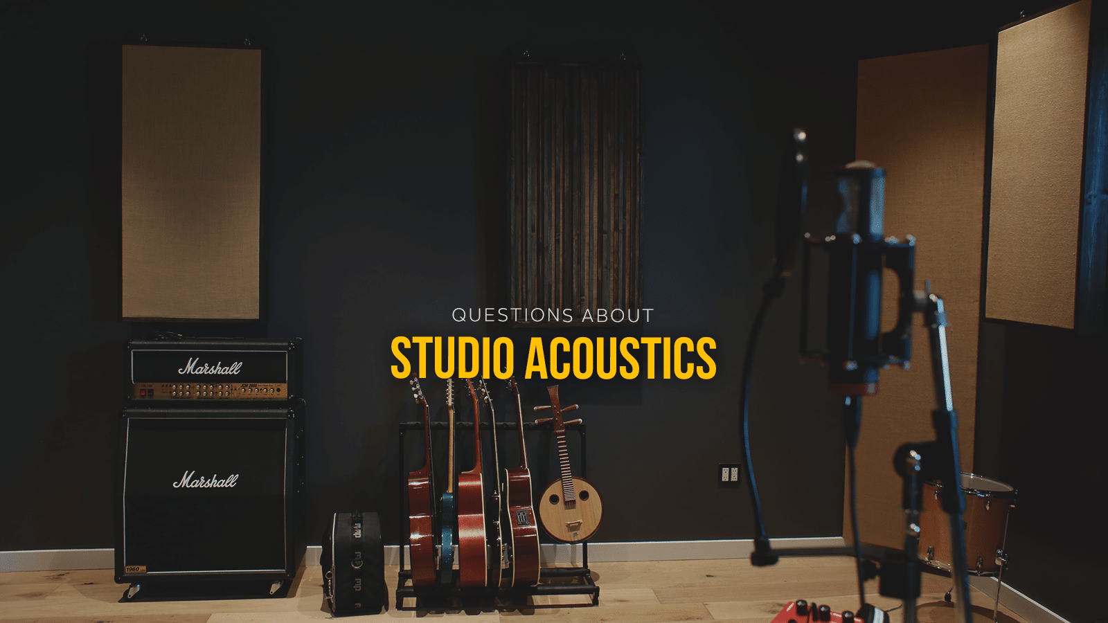 7 pressing questions about home studio acoustics output - Bedroom studio acoustic treatment ...