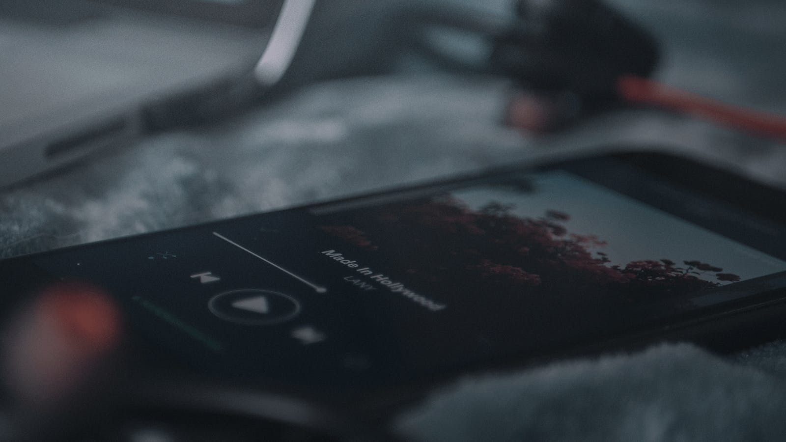 Mobile phone playing a song, showing how streaming is changing the music industry and how we consume music.