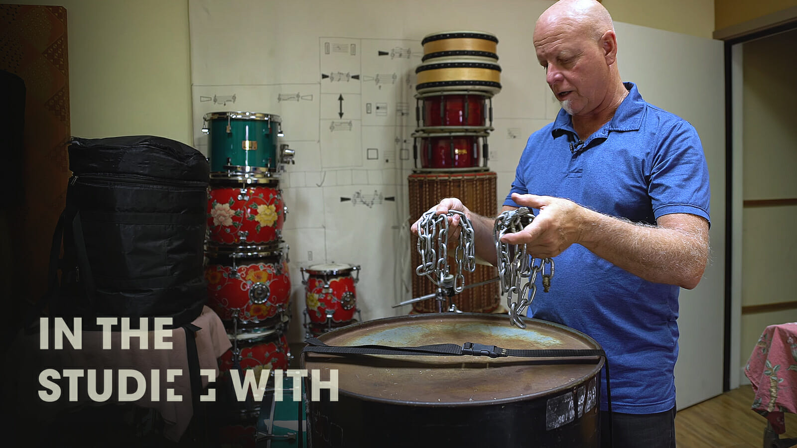 Touring the studio of M.B. Gordy, the famous percussionist behind Hollywood movie scores
