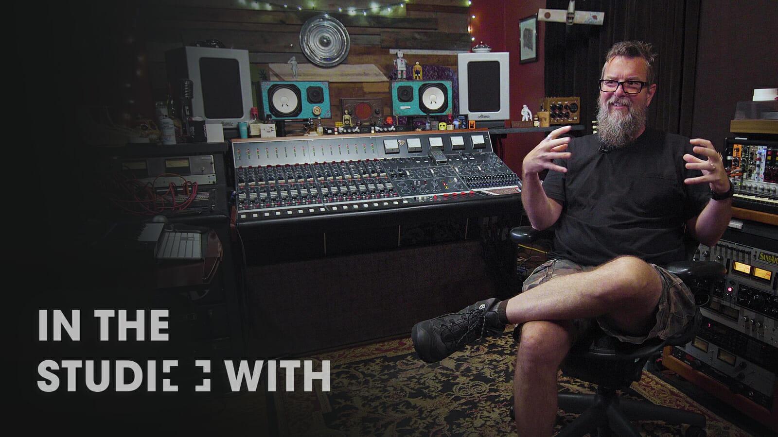 Mitch Dane in his studio sputnik sound