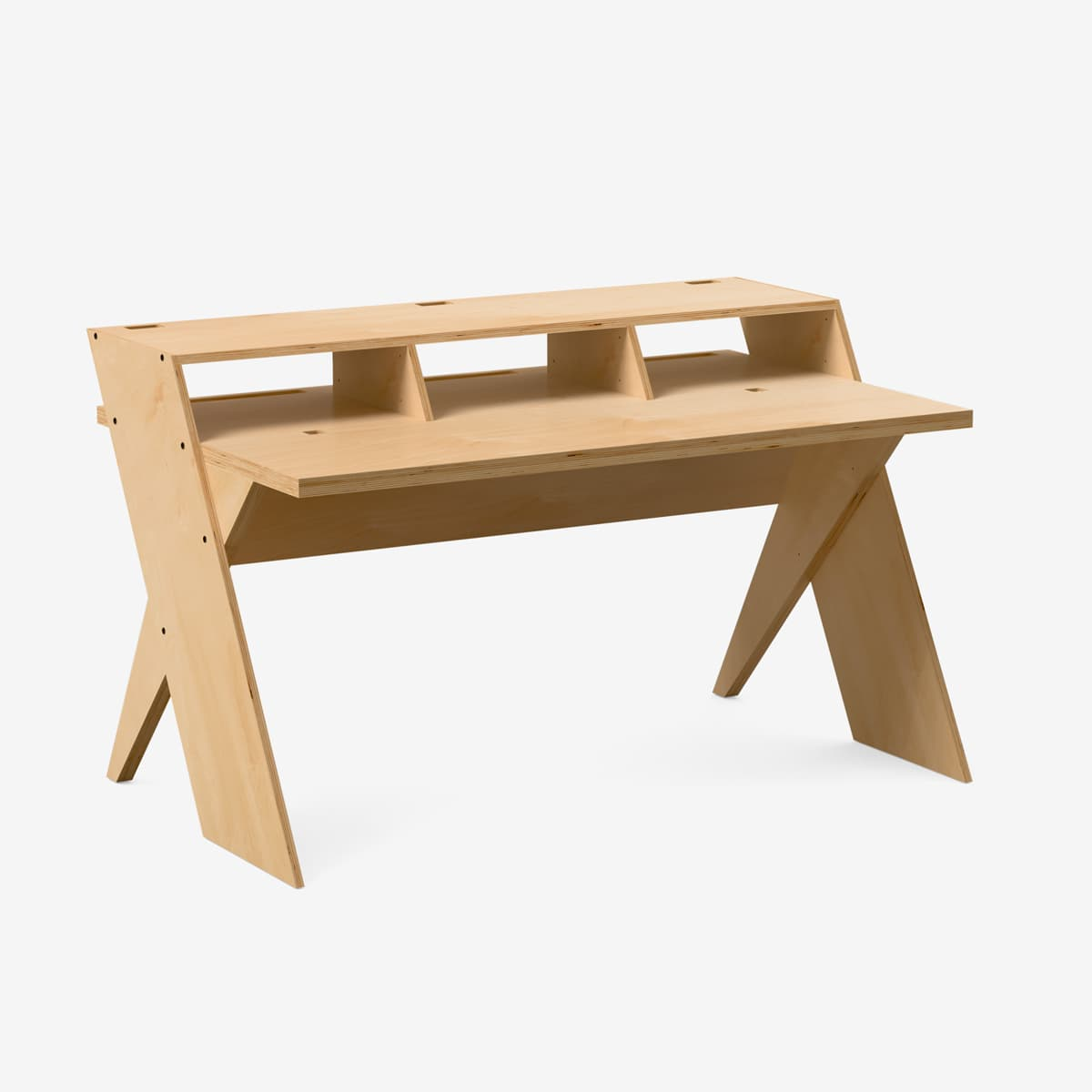 Natural Color Platform Desk