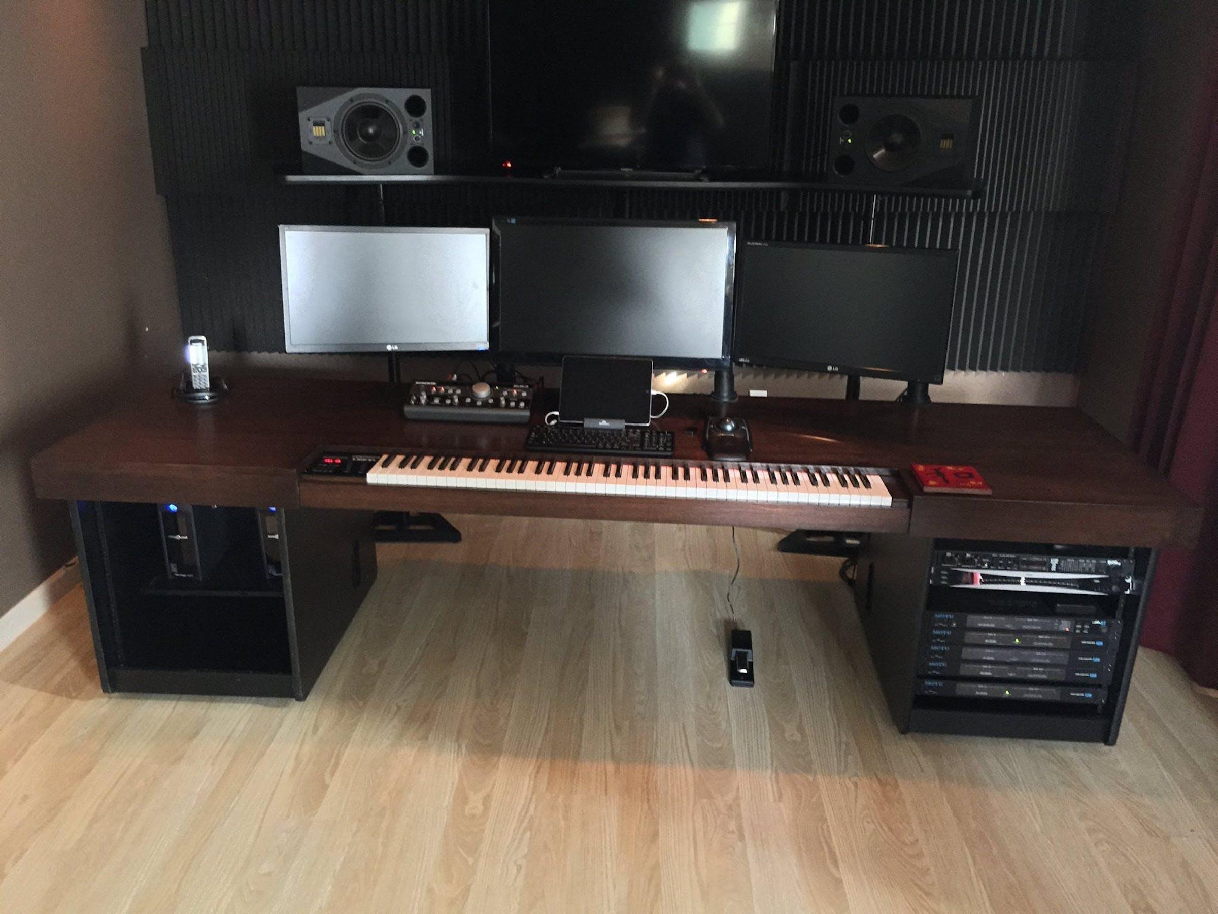 Custom Beijer Workstation music studio desk