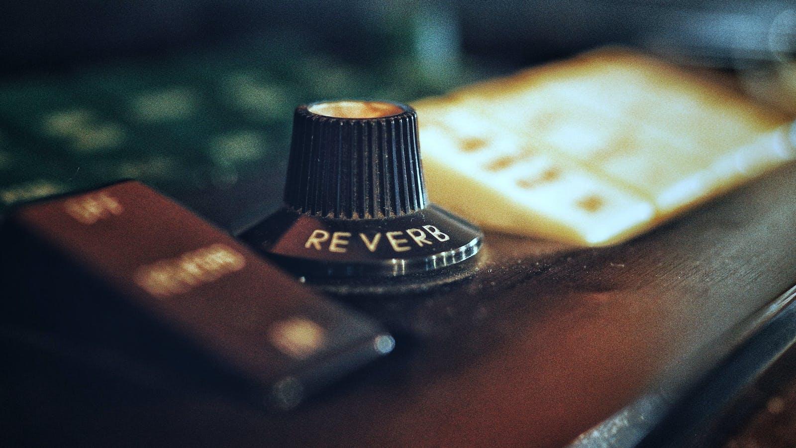 Reverb knob on music equipment